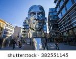 statue of franz kafka  the...   Shutterstock . vector #382551145