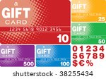color gift cards  vector format  | Shutterstock .eps vector #38255434