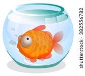 single goldfish swimming in... | Shutterstock .eps vector #382556782