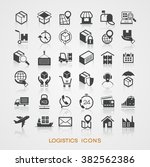 set logistics icons. the file... | Shutterstock .eps vector #382562386