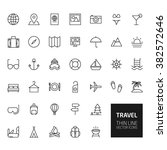 travel outline icons for web... | Shutterstock . vector #382572646