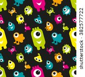 coloured seamless pattern with... | Shutterstock .eps vector #382577722
