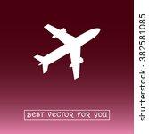 airplane sign icon  vector... | Shutterstock .eps vector #382581085