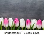 flowers white and pink  on the... | Shutterstock . vector #382581526
