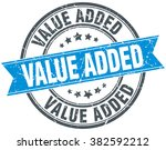 value added blue round grunge... | Shutterstock .eps vector #382592212
