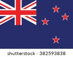 new zealand flag . vector | Shutterstock .eps vector #382593838