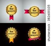 best quality guaranteed golden... | Shutterstock .eps vector #382600105
