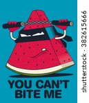 watermelon character vector... | Shutterstock .eps vector #382615666