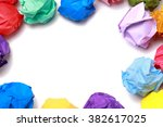 Colorful Balls Of Crumpled...