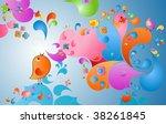 summer color burst  fantasy... | Shutterstock .eps vector #38261845