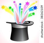 vector magic hat. | Shutterstock .eps vector #38262109