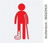 people broken arm and leg icon... | Shutterstock .eps vector #382629625