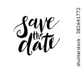 save the date  hand drawn... | Shutterstock .eps vector #382641772
