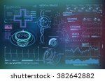 hud background outer space.... | Shutterstock .eps vector #382642882
