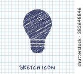 electric bulb vector doodle...