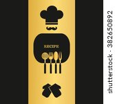 vector recipe page design.... | Shutterstock .eps vector #382650892