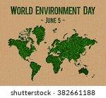world environment day  june 5 ... | Shutterstock . vector #382661188