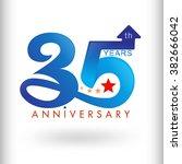 template logo 35th anniversary  ... | Shutterstock .eps vector #382666042