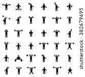 a set of silhouettes of...   Shutterstock . vector #382679695