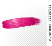vector pink watercolor brush... | Shutterstock .eps vector #382687336