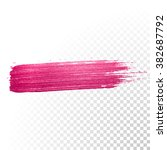 vector pink watercolor brush... | Shutterstock .eps vector #382687792