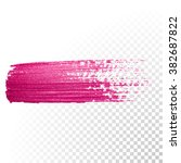 vector pink watercolor brush... | Shutterstock .eps vector #382687822