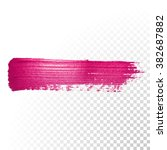 vector pink watercolor brush... | Shutterstock .eps vector #382687882