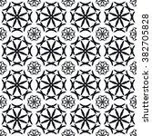 black and white seamless... | Shutterstock .eps vector #382705828
