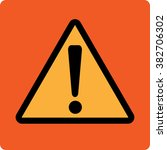 exclamation danger   vector icon | Shutterstock .eps vector #382706302