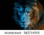 Fractal Design Of A Lion In A...