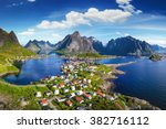 reine  lofoten  norway. the...