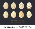 Happy Easter Gold  White And...