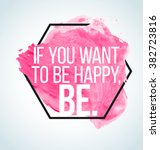 modern inspirational quote on... | Shutterstock .eps vector #382723816