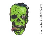 Skull Zombie Illustration