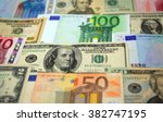 various paper money euro and... | Shutterstock . vector #382747195