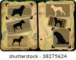 silhouettes  dogs  vector... | Shutterstock .eps vector #38275624