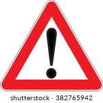 warning signs other danger... | Shutterstock .eps vector #382765942