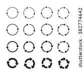 set of black circle vector... | Shutterstock .eps vector #382774642