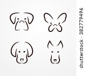 abstract dog logo collection ... | Shutterstock .eps vector #382779496