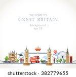 travel great britain england...   Shutterstock .eps vector #382779655