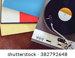 turntable with blank record... | Shutterstock . vector #382792648