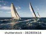 yachting. sailing yacht race.... | Shutterstock . vector #382800616