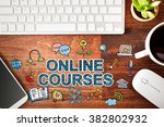 online courses concept with... | Shutterstock . vector #382802932