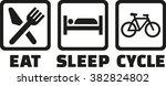 eat sleep cycle | Shutterstock .eps vector #382824802