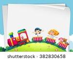 paper design with children on... | Shutterstock .eps vector #382830658