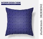 decorative throw pillow design... | Shutterstock .eps vector #382838542