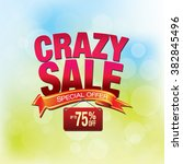 crazy sale shopping background... | Shutterstock .eps vector #382845496