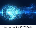 abstract technology security on ... | Shutterstock .eps vector #382850416