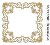 vintage baroque frame scroll... | Shutterstock .eps vector #382852708