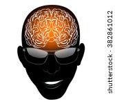 brain  head  glasses  for any... | Shutterstock .eps vector #382861012